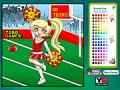 Pom Pom Cheerleader Coloring